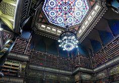 Real Gabinete Português de Leitura - Biblioteca - Centro da Cidade - Rio de Janeiro - Brasil - Brazil