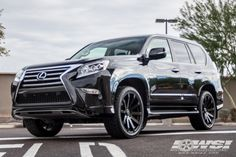 "2014 Lexus GX with 22"" Black Rhino Traverse in Matte Black wheels"