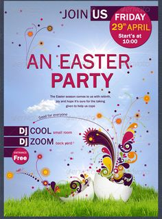Easter Party Flayer Template | web3mantra | Pinterest | Easter ...