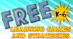 A really cool collection of totally free math and literacy games you can download plus some other free goodies!