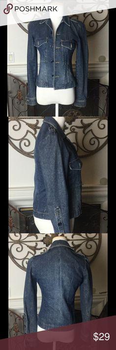 """Juicy Jeans Jean Jacket.  Sz XXS Juicy Jeans Jean Jacket.  Sz XXS.  Shoulder to shoulder 13"""". Armpit to armpit 15"""". Waist 13"""". Length 20"""". In good shape! Juicy Jeans Jackets & Coats"""