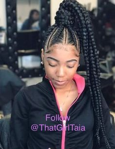50 Awesome Braided Ponytail Hairstyles for Black Hair