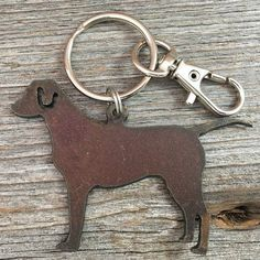 Labrador or Pointer Key Ring  Dog Keychain  by DuctTapeAndDenim ~ Use the coupon code PIN10 and get 10% off your entire order at DuctTapeAndDenim.etsy.com
