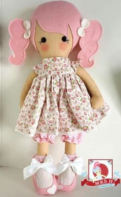 Best 12 The Best Baby Dolls to Add to Your Collection Doll Sewing Patterns, Sewing Dolls, Doll Clothes Patterns, Doll Crafts, Diy Doll, Felt Dolls, Baby Dolls, Best Baby Doll, Rag Doll Tutorial