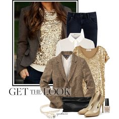 Get the Look ~Sequin Top~, created by cynthia335 on Polyvore