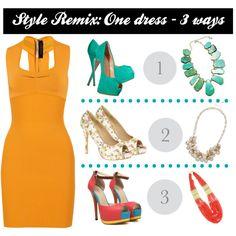 Style Remix - Yellow Bodycon Dress - 3 ways
