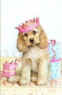peintres debbie cook - Page 3 American Cocker Spaniel, Motifs Animal, English Cocker, Dog Illustration, Tier Fotos, Dog Paintings, Training Your Dog, Dog Art, Puppy Love