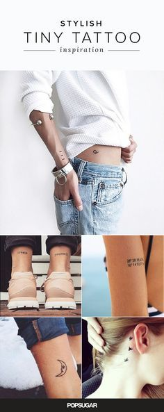 These 40 tiny tattoos are stylish enough to show off but are also discreet so you can tuck them away.