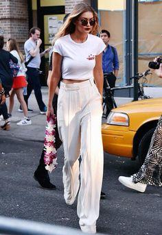 gigi-hadid-street-style-all-white-t-shirt-wide-pants