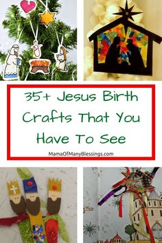 A great list of Christmas craft ideas for kids, all about JESUS birth.
