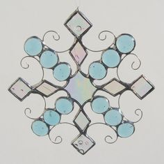 Snowflake Ornament or Suncatcher Stained Glass by FiveSparrows,