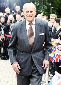 The Royal Watcher ~ Prince Philip, Duke of Edinburgh during his visit to Schloss Bellevue; the Prince is accompanying his wife, the Queen on her state visit to Germany.
