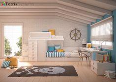 Habitación infantil con cama Tren