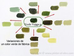 Curso de pintura: mezclas-verde-vejiga