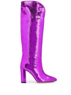 Paris Texas Atlanta Boots In Pink Heeled Boots, Shoe Boots, Shoes, Paris Texas, Pink Leather, World Of Fashion, Snake Skin, Luxury Branding, Block Heels