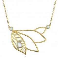 Feather Plate Necklace   Satya Jewelry