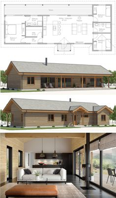 Small House New Design 21 Beautiful House Designs Home Plans Floor Plans Homeplans New House Plans, Modern House Plans, Small House Plans, House Floor Plans, Design Home Plans, Long House, Small House Design, Prefab Homes, Tiny Homes