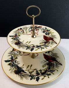 38 best lenox winter greetings birds images on pinterest christmas lenox winter greetings 2 tier server tray tidbit lenox m4hsunfo
