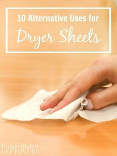10 Alternative Uses for Dryer Sheets- Here are 10 different ways to use dryer sheets around your home that are frugal and practical. Give them a try!