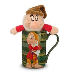 Disney Snow White and the Seven Dwarfs Grumpy Coffee Mug with Mini Plush Toy