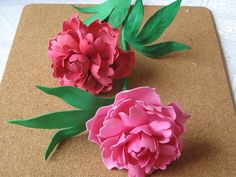 Цветы из фоамирана - пион. Мастер класс часть 1 Diy Lace Ribbon Flowers, Paper Flowers Diy, Handmade Flowers, Felt Flowers, Flower Crafts, Fabric Flowers, Foam Sheet Crafts, Foam Crafts, Crepe Paper Crafts