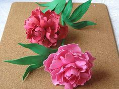 Цветы из фоамирана - пион. Мастер класс часть 1
