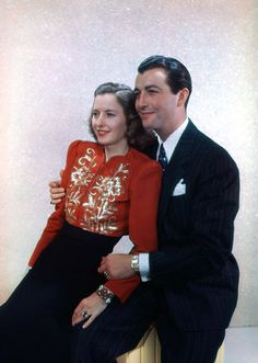 Barbara Stanwyck and Robert Taylor (Nov Hooray For Hollywood, Hollywood Walk Of Fame, Golden Age Of Hollywood, Classic Hollywood, Old Hollywood, Barbara Stanwyck Movies, Robert Taylor Actor, Portia De Rossi, Fritz Lang