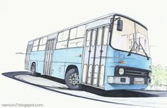 The Ikarus 260 bus, with its charm of old buses, was produced for a long time with the upgraded version from 1972 to and the head off. Bus Drawing, Food Drawing, Bus Interior, Future Transportation, Still Life Drawing, Truck Art, Busses, Designs To Draw, Techno