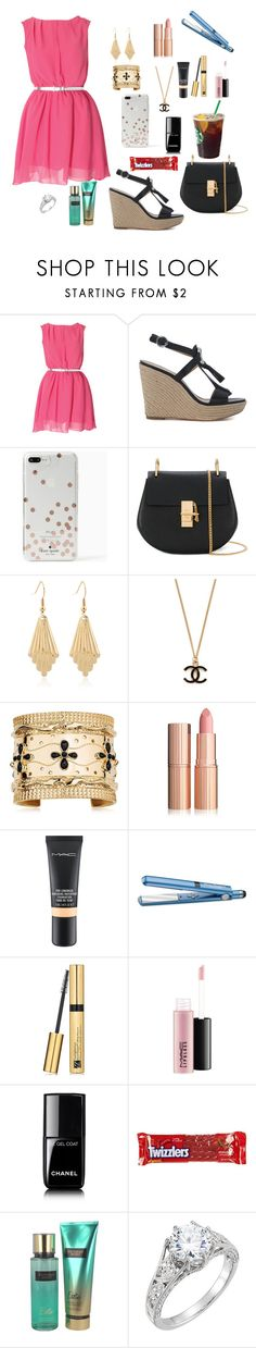 """Espadrilles"" by kayleerae-hoffman ❤ liked on Polyvore featuring Michael Kors, Kate Spade, Chloé, Aurélie Bidermann, MAC Cosmetics, BaByliss Pro, Estée Lauder, Chanel, River Island and Victoria's Secret"