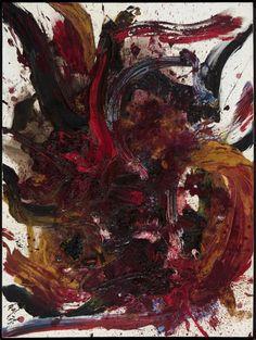 Kazuo Shiraga (Japanese: 1924-2008), Work BB 45, 1962. Oil on canvas.