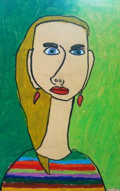 ART with Mrs. A: Fourth Grade Elongated Self Portraits