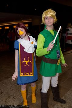 #Zelda cosplay: Medli and Link cosplay - picture by David Ngo (DTJAAAAM) at MomoCon 2013