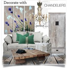 Decorate With Chandeliers by lidia-solymosi on Polyvore featuring interior, interiors, interior design, дом, home decor, interior decorating, Aidan Gray, Trans Globe Lighting, Shabby Chic and contestentry