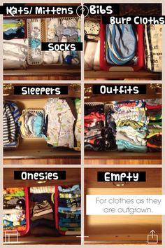 Organized Dresser for Baby