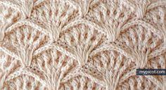 MyPicot | Free crochet patterns crochet shell textured stitch