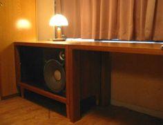 30㎝横置きバックロードホーンハークネス家具風3点セット_画像2