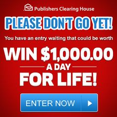 Enter our free online sweepstakes and contests for your chance to take home a fortune! Will you become our next big winner? Enter Sweepstakes, Online Sweepstakes, 10 Million Dollars, From Rags To Riches, Win For Life, Please Dont Go, Daddy Quotes, Winner Announcement, Game Prizes
