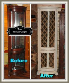 Hutch Makeover Before And After Ideas China Cabinet Makeovers