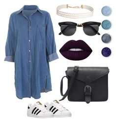 """"""""""" by llizl on Polyvore featuring мода, adidas, Lime Crime, Terre Mère и Humble Chic"""