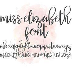 Silhouette Design Store: Miss Elizabeth Font Creative Lettering, Lettering Styles, Brush Lettering, Hand Lettering Alphabet, Alphabet Fonts, Graffiti Alphabet, Miss Elizabeth, Calligraphy Fonts, Caligraphy