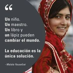 We love Malala — what a great example of courage and the power of education. Spanish Classroom, Teaching Spanish, Spanish Memes, Spanish Quotes, Spanish 1, Malala Yousafzai Quotes, Love Phrases, Classroom Language, Teacher Quotes