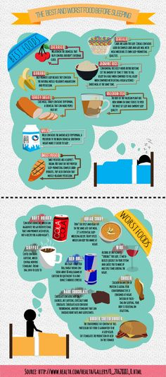 you will learn what to take and to avoid the foods before heading out to sleep.
