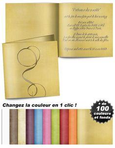 Fil d'or , un modèle de faire-part mariage raffiné Fil D'or, Notebook, Sons, The Notebook, Exercise Book, Notebooks
