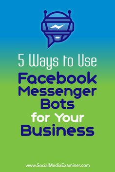 Customers expect lightning-fast responses from businesses on Facebook. Chatbots can help you deliver the right answer the moment a customer asks.