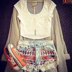 Shorts: blouse t-shirt sweater shoes tribal pattern hipster high waisted short summer trendy teen