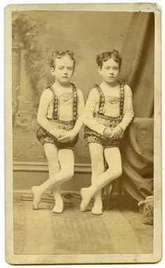 "Creepy carnival twins    remind me of the girls from ""The Shining"" ~"