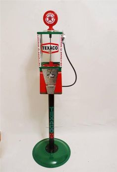 Texaco gas candy machine home decor petro personalized gift