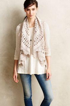crochet vest - #crochet from Anthropologie
