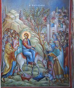 Life Of Christ, Church Interior, Palm Sunday, Christmas Icons, Orthodox Icons, Religious Art, Mosaic, Saints, Angel