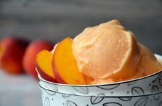 5-Minute Healthy Peach Frozen Yogurt yield: 4 SERVINGS prep time: 5 MIN 1 (16-oz.) bag frozen peaches or 4 cups fresh peaches, frozen solid 3 Tablespoons agave nectar or honey 1/2 cup plain yogurt (non-fat or whole) 1 Tablespoon fresh lemon juice Add the frozen peaches,honey, yogurt & lemon juice to the bowl of a food processor. Process until creamy, about 5 minutes add additional agave nectar or honey if you want a sweeter-tasting dessert